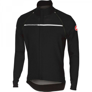 castelli men's perfetto convertible jacket- Save 25% Off - Features of the Castelli Men's Perfetto Convertible Jacket Fully aero, fully breathable and fully protected Gore Windstopper X-Lite Plus fabric for lightweight total wind protection with water-repellent finish Remove the sleeves for a short-sleeved Perfetto Jersey Nano Flex fabric insert under arms Storm-flap construction with reflective logo at back protects from wheel spray Silicone gripper at waist prevents ride-up Full-length YKK Vislon zipper with wind flap 3 Rear pockets with laser-cut drain holes