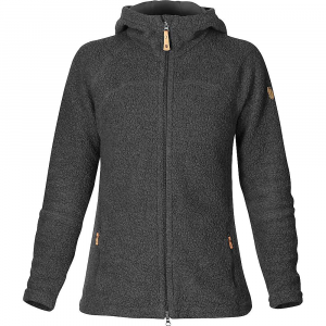 fjallraven women's kaitum fleece- Save 35% Off - Features of the Fjallraven Women's Kaitum Fleece Jacket Thick fleece jacket in wool blend with fleece-lined hood that is great for trekking and casual wear Can be worn both as a warm, moisture-wicking middle layer under a shell or alone as a casual piece Made from a functional wool blend that combines the temperature-regulating properties of wool with the durability of polyester Snug hood with microfleece lining that is soft against the face Full-length front zipper with protective flap at the chin Attractive women's cut with comfort Fit