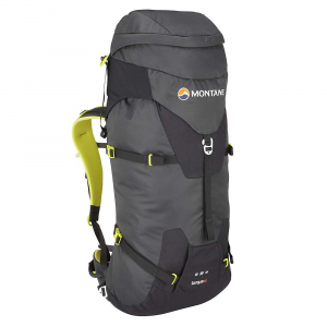 montane torque 40l pack- Save 42% Off - The Montane Torque 40 Pack is a robust, Technical Climbing pack designed to carry heavy Climbing equipment and works perfectly with your Technical Climbing harness and hold its own against abrasive rock surfaces. Gear loops on the left and right hip keep frequently used gear close at hand and a ?Dual Tool? reversed clean Technical ice axe attachment system safely locks down axes when not in use. The sleek, streamlined design keeps everything in place while straps at the shoulders let you adjust your gear to stay close to your back, keeping your pack stable when it's heavy. Features of the Montane Torque 40L Pack Constructed from lightweight Raptor TL fabric in the main body which is tough yet exceptionally lightweight. Features a superb DWR and tear resistance Raptor UTL ultra tough, lightweight panels on the base, 'Dual Tool' Area, Upper front, top rear and rear sides for additional abrasion protection against rock surfaces Granite Stretch skirt lid side panels give a clean fabric hugging lid closure and additional storm protection with a sleek shape Moulded Montane 'Comfort Back Pad' Features channels that wick sweat and rainwater away from the body and give additional ventilation 'VertErgo Climb' back system provides strength, support and comfort when carrying heavy loads It can be also be manipulated to Fit the user's back for a specific tailored Fit Removable 'VertErgo Climb' panel helps reduce weight if extreme weight saving and minimalism is required Features an Hdpe stiffened panel across the top of the back panel which provides structure for top tension straps to torque off Stiffened panel is scooped to allow for head and Climbing helmet space Two top shoulder tension straps allow the pack weight to pull close to the body and control the pack stability for the required terrain Removable hip belt prevents interference with Climbing harness belt and can be used as additional compression in the middle of the pack during 