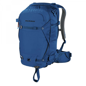mammut nirvana pro 35 pack- Save 23% Off - Features of the Mammut Nirvana Pro 35 Pack U-frame increases carrying comfort and load transfer with attached skis or SnowBoard 2-layer, High-Density EVA back padding, hip and shoulder belts with laminated stretch fabric cover Fully zipped access into the main compartment from the back Front pocket for avalanche safety equipment Ski attachment, can be used on the side or diagonally Lateral, extremely sturdy, width-adjustable velcro ski loops SnowBoard carrier with fully adjustable stabilisation belt to ensure freedom of movement of the legs Helmet carrier with Snow protection, stowable Ice axe straps and trekking pole straps Padded goggle pouch Zipped inner compartment with key clip Pocket on the hip belt Removable, padded hip belt SOS label with emergency instructions Insulated hydration tube cover in shoulder harness Gear loops on the hip belt Hydration system compatible