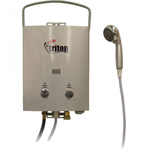 camp chef triton portable water heater- Save 20% Off - Features of the Camp Chef Triton Portable Water Heater - 5L 1.5 Gallons per minute of on demand hot water Fully adjustable heat and water flow 4 Settings shower head: off, mist, shower, and jet Includes 8 foot water hose (96in.) Easy turn brass garden hose connector Heating unit automatically ignites when water is turned on Uses 2 D batteries for ignition (not included) Self standing or use included brackets to hang Carry handle folds down for storage Includes regulator hose for bulk propane tank
