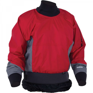 nrs stampede paddling jacket- Save 35% Off - Features of the NRS Stampede Paddling Jacket An alternative to more constricting latex gaskets, the punch-through neoprene GlideSkin neck seal provides all-day comfort while still keeping most water out The tough latex wrist gaskets seal out water and Are protected by self-draining volcano-style neoprene covers Lightweight, supple HyproTex fabric provides outstanding comfort, dryness, breathabilty and toughness Coated nylon inner skirt and 3in. double-pull waist mate with your sprayskirt to keep you and your kayak's cockpit dry Fully taped seams ensure dryness and durability Convenient splashproof sleeve pocket keeps necessities close at hand