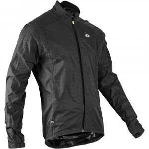sugoi men's zap run jacket- Save 38% Off - Features of the Sugoi Men's Zap Run Jacket Introducing our zap reflectivity that is designed for High visibility when struck by artificial light Breathable, water resistant fabric keeps you comfortable in the elements Media management system on collar to secure headphone cords Shock cord waist adjustment to customize your Fit Two hand pockets and a chest pocket for storing essentials