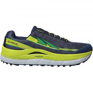 altra men's olympus 2 shoe- Save 19% Off - Features of the Altra Men's Olympus 2 Shoe Cushioning: Max Ideal Uses: Trail Running, Hiking, Fastpacking, Trail Racing Designed To Improve: Running Form, Toe splay, Stability, Push-off, Comfort, Traction Midsole: Dual Layer EVA with A-Bound Top Layer Outsole: Trail specific sticky rubber Upper: Quick-dry trail mesh GaiterTrap Technology