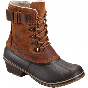 sorel women's winter fancy lace ii boot- Save 15% Off - The Sorel Women's Winter Fancy Lace II Boot is a short boot for going to and fro in light Snows. The cold and wet isn't always fun but you can make sure your feet enjoy it by stepping into these little beauties. They're 100% waterproof from the leather Upper to the vulcanized rubber shell. A fleece lining and 100g Insulation keeps you warm against the cold, just try not to step into too deep of a Snowdrift while getting out of the car. Features of the Sorel Women's Winter Fancy Lace II Boot Upper: Waterproof full-grain and oiled suede leather. Fleece lining. Seam-sealed waterproof construction Insulation: 100g Insulation Footbed: Molded EVA Footbed with arch support, microfleece topcover Midsole: Vulcanized rubber Outsole: Insulated waterproof vulcanized rubber shell with herringbone Outsole