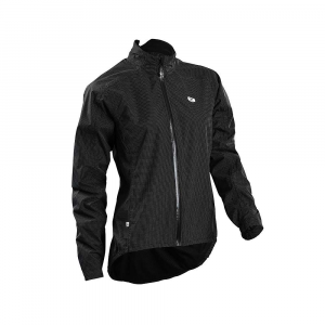 sugoi women's zap bike jacket- Save 39% Off - The Sugoi Women's Zap Bike Jacket is a waterproof jacket for biking day or night. Whenever the weather is poor but you still need to get your butt in the saddle and feet on the pedals, pull on the magic of HydroShield waterproof/breathable protection. You stay dry from shoulder to wrist and from neck to lower back. The lower collar covers the neck without creeping up too far and the droptail prevents tire spray from getting the best of your back. The material is reflective, all over the jacket, so biking home on darker streets keeps you more visible to traffic. Keep any small Items in the lower back pocket close by and zip it closed for security. Features of the Sugoi Women's Zap Bike Jacket Introducing Pixel, a fully reflective waterproof fabric designed for High visibility in low light conditions Drop tail for lower back and seat coverage from tire spray Waterproof front zip and fully taped seams for additional protection from the elements Rear velcro closure pocket for stowing ride essentials Wind resistant Breathable fabric Waterproof