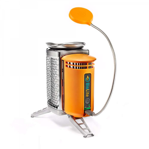 biolite campstove with flexlight- Save 23% Off - The BioLite CampStove with FlexLight is a Wood burning camp stove for backpackers and hikers. Gone Are the days of buying fuel canisters, as this water bottle sized stove burns real Wood, and you don't need to chop anything down to make it work. As you hike, gather fallen sticks, pinecones, ect, just like a bird would gather Items to build its nest. Set 'er up and get that fire going, and you can cook a hot meal or just use the Thermoelectric Generator to charge your Smartphone or headlamp via USB. Also included is the USB FlexLight, so you'll be able to see at night and re-charge by day. Thermoelectric Generator, whoa big words. It just means it converts the heat from the fire into usable electricity. So. Cool. When you're done, everything tucks inside of itself for compact travel to the next camp along the trail. Features of the BioLite CampStove with FlexLight On-demand electricity provides an outlet to charge Smart phones, head lamps, and LED lights on the trail using only a little bit of kindling The Smokeless flames allow you to cook over the campfire without stinging your eyes or harming Mother Earth Provides a variety of fuel sources like Wood so you can forget relying on fossil fuels. So great. Patented core Technology captures waste heat from the fire through a heat probe attached to the orange powerpack Heat is converted into usable electricity via a thermoelectric generator which powers a fan and sends surplus energy to a USB charging port The heat created by the biomass-fueled fire generates electricity to power a fan that moves air back into the burn chamber, creating airflow, for improved combustion and a cleaner, more efficient burn. Like in science class, only better. Has full cooking and boiling functionality, which prepAres you for emergencies and is ideal for camping The additional electricity generated by the Thermoelectric Generator is sent to the USB port and is what gives life to your electronics like your phone and LED lights Includes USB FlexLight to help you see what you're doing The portable and compact design is easy to pack and take along, without having to carry fuel Boil times vary by the strength of the fire, but on average takes 4.5 minutes to boil 1 liter of water The scalloped pot stand triangulates pots and pans for a stable cooking surface and moves flames away from power pack. Triangulate is such a fancy word. The honeycomb heat mesh protective barrier is designed to keep the CampStove cool to the touch to avoid burning your fingers The aluminum legs Are lightweight and fold up and away for easy storage options The FlexLight turns on or off with just the tap of your finger, and dims simply by holding it down. So easy. The flexible neck of the FlexLight allows you to bend and move the light exactly where you need it, without having to move your power source The FlexLight is also friendly with all USB ports, including the BioLite BaseCamp As a low draw, the FlexLight does not require a lot of power, which comes in handy during power outages The FlexLight is a great little tag along to light up your cooking Area during low light situations, or simply as an extra source of light in your workspace Specifications of the BioLite CampStove with FlexLight Fuel: renewable biomass like twigs, sticks, even pellets Boil time: 4.5 minutes for 1 liter of water Fire output: 3.4kW (low) and 5.5kW (High) Fire quality: 1.6 oz (46 g) of Wood to boil 1 liter of water FlexLight Length: 16in. (40.64 cm) FlexLight Weight: 1.80 oz (51.03 g) FlexLight Lumens: 100 Lm FlexLight USB: 1.25 watts (5V, 0.25A) USB output for CampStove: max continuous 2 watts at 5 volts with peak being 4 watts at 5 volts Charging time: for an iPhone 4S (2G) approx. 20 minutes of charging gives 60 minutes of talk time. Again, this depends on the strength of the fire. What's included: stuff sack, instructions, USB cord for internal battery charging, BioLite Stove, USB FlexLight, and Firelighter
