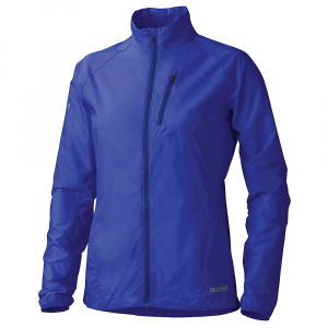 marmot women's aeris jacket- Save 44% Off - The Marmot Women's Aeris Jacket is a wind jacket for making it through windy trail days from spring through fall. The wind resistant, water repellent, 100% nylon ripstop stretch fabric is extremely lightweight and packable, coming in at a mere 4.24 ounces. The elastic cuffs and drawcord hem bring the fabric in closer at the openings, preventing drafts from chilling the arms and spine. The single zippered chest pocket allows you to carry a small essential or two without getting in the way of your pack straps or adding a ton of weight. Features of the Marmot Women's Aeris Jacket Wind Resistant, Water Repellent, and Breathable Stretch for Added Comfort Ultralight Construction Zippered Chest Pocket with Reflective Trim 360 Reflectivity Collar Draw Cord Elastic Bound Cuffs Elastic Drawcord Hem
