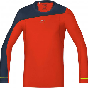 gore running wear men's fusion shirt long- Save 19% Off - Features of the Gore Running Wear Men's Fusion Shirt Long Neon details on sleeves Shifted seams for less chafing Sleeve hem with thumbhole Reflective logo on front Less friction thanks to ultrasonic seams