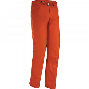 Arcteryx Men's Pemberton Pant: Save 34% Off - Features of the Arcteryx Men's Pemberton Pant Lightweight, durable cotton/nylon blend canvas fabric with stretch for comfort and freedom of movement Articulated knees and gusseted crotch for mobility and comfort Cinchable drawcord at hem Adjustable webbing belt for a secure Fit Front hand pockets, back pockets Embroidered bird logo Mid weight nylon plain weave fabric with elastane for stretch and mobility Hardwearing and breathable fabric has a DWR finish for added water repellency and stain resistance