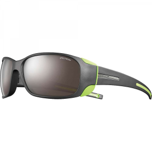 julbo montebianco sunglasses- Save 25% Off - The Julbo Montebianco Sunglasses Are wrap around sunglasses for on and off the mountain. The range of lenses available allow you to stay on the mountain or slip easily from High in the mountains to making it for dinner back in town. The side shields Are removable to help the transition from High to low, blocking sun from your peripheral vision when necessary. The co-injection in the temple arms along with a gentle taper to the temple ends ensure they'll stay put on your face, even if wearing a hat or helmet. Features of the Julbo Montebianco Sunglasses Total Cover Shape: Maximum protection in extreme conditions against harsh sunlight Removable Side Shields: Lateral protection against harsh sunlight Curved Temples: For good hold on the face and head Grip Tech: Soft comfort exclusive material on the temples that doesn't stick to hair, giving perfect hold and comfort Cord Attachment: Allows attachment of a cord
