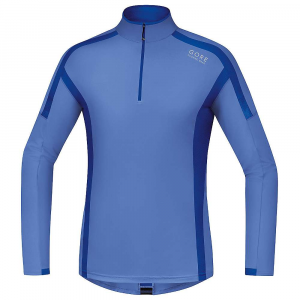 gore running wear men's air zip long shirt- Save 45% Off - Features of the Gore Running Wear Men's Air Zip Long Shirt Contrast flat-lock seams Reflective print on back Short zip with semi-lock slider and underflap Mesh inserts for ventilation under arms and at nape Close Fit collar Reflective logo on front