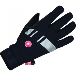 castelli men's tempesta glove- Save 25% Off - Features of the Castelli Men's Tempesta Glove 4-way stretch water-resistant Nylon 66/Elastane 95/5% DWR Absolutely waterproof OutDry Technologymembrane Dry Zone lining manages moisture with 1-way moisture movement Neoprene cuff for easy on/off and secure Fit Microsuede thumb panel Reflective detailing