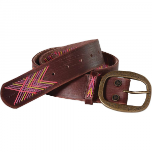 prana aero belt- Save 25% Off - Features of the Prana Aero Belt Vegtable tanned leather with four color crochet pattern throughout center and on belt loop Metal prana rivet Antique metal buckle