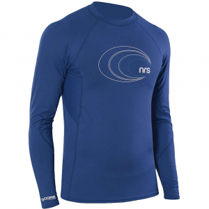 nrs men's h2core rashguard ls shirt- Save 35% Off - Features of the NRS Men's H2Core Rashguard Long Sleeve Shirt Provides advanced protection against sun and abrasion for surfing, SUP, kayaking, rafting and other active water sports UPF 50+ Performance cut allows unrestricted movement and creates friction-free zones under the arms for comfortable paddling Nylon/spandex Technical fabric wicks moisture away from the skin and dries quickly for cool comfort on the water The silky exterior ensures fluid, athletic Performance while the brushed inner surface feels soft and cool on your skin Great by itself in hot weather or as a base layer in your cold weather layering system