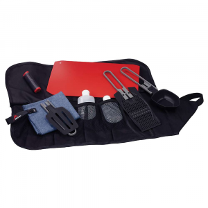 msr alpine kitchen set- Save 12% Off - The MSR Alpine Kitchen Set is a lightweight kitchen kit for cooking up stellar meals in the backcountry. The burrito-style case rolls up small for packing and keeps your fancy utensils from touching dirty ground while prepping for dinner. The utensils include a spoon, spatula and a strainer/grater, all made from BPA-free materials and with a folding handle. The salt and pepper shaker ensures properly spiced food (assume you use the right amount) and the two squeeze bottles carry soap or maybe some olive oil. The cutting Board is flexible for packing yet strong enough for cutting up a summer sausage High in the mountains, wipe up with the PackTowl for a clean camp. Features of the MSR Alpine Kitchen Set Alpine Spoon, Spatula and Strainer/Grater: Spoon is calibrated for common measurements, Strainer doubles and cheese grater and Spatula has serrated edge Alpine Salt and Pepper Shaker: Design is moisture resistant and holds plenty PackTowl Dish Towel: The original travel towel absorbs four times its weight in water-over and over-dries fast and is built to survive years of abuse Alpine Cutting Board: Flexible design slips into case and rolls to protect contents Roll-Away Case: Durable fabric with multiple pockets for maximum versatility Plus: (2) Squeeze bottles Assortment of multi-use utensils and a few less common things that add very little weight and bulk, but much to your cooking pleasure and capabilities