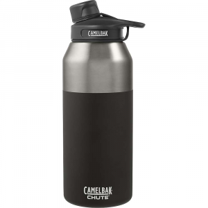 camelbak chute vacuum insulated stainless 40oz water bottle- Save 26% Off - Features of the CamelBak Chute Vacuum Insulated Stainless 40oz Water Bottle Double-walled bottle keeps water cool and reduces condensation Hard plastic is 100% free of BPA and BPS Spout cap snaps into the handle to prevent it from getting in the way when drinking The half-turn cap simplifies access to your water All parts of the Chute bottle Are Are top-rack dishwasher safe