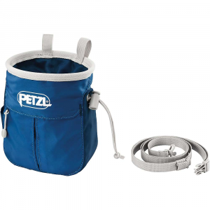 petzl sakapoche chalk bag- Save 25% Off - Features of the Petzl Sakapoche Chalk Bag Zippered pocket is expandable for extra storage capacity due to its gusseted design. Store keys, e+LITE emergency headlamp, topo map, energy bar, or other small provisions for long days on a wall The rigid rim maintains the shape of the bag The woven fabric used to close the bag does not absorb chalk and keeps it from being lost when closed for transportation Rigid textile toothbrush holder with two retainers for better hold of all types of brushes Liner sewn into bottom of bag to avoid flipping it when pulling hand out of the chalkbag