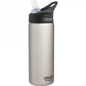 camelbak eddy vacuum insulated stainless 20oz water bottle- Save 26% Off - Features of the CamelBak Eddy Vacuum Insulated Stainless 20oz Water Bottle Spill-proof Double-wall Insulation keeps water cool and reduces condensation Durable bottle for hydration on-the-go No tipping required, just flip open the bite valve and sip One-finger carry handle All parts Are top rack dishwasher safe