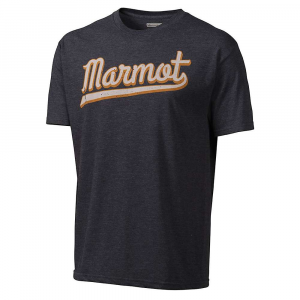 Marmot Men's Field SS Tee: Save 43% Off - Features of the Marmot Men's Field Short Sleeve Tee Soft, comfortable, lightweight jersey knit fabric A blend of polyester and ringspun cotton for comfort Graphic tee with center front logo Tag-free neckline