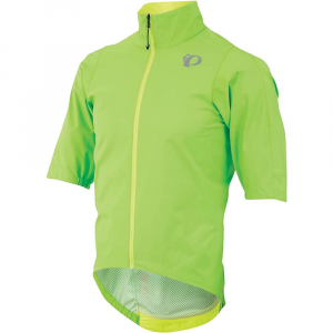 pearl izumi men's p.r.o short sleeve rain jacket- Save 25% Off - Features of the Pearl Izumi Men's P.R.O Short Sleeve Rain Jacket Lightweight, packable protection from water and wind, with maximal breathability Elasticized rear tail piece for Fit, shape and to keep in place Aggressively shaped front to back for best Fit even on the drops Half sleeve to elbow for protection from wind and wet but allowing extra flexibility for the hardest efforts Speed sleeve construction for Fit, shape and comfort on the bike Waterproof front zipper Extended tail for weather protection, but cut High at the front for on the bike comfort Reflective logos and details in the most visible position for other road users