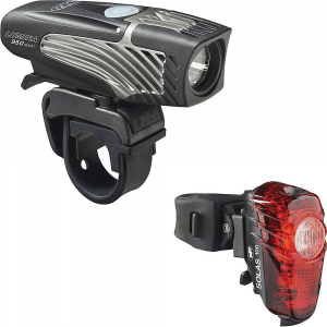 niterider lumina 950 boost & solas 100 combo bike light- Save 27% Off - Features of the NiteRider Lumina 950 Boost and Solas 100 Combo Bike Light New boost mode, double tap power button to unleash maximum LED output at 950 lumens 5 Light levels plus 1 daylight flash mode Fits standard and Oversize 35mm handlebars Perfect for helmet mounting IntelliCharge-reduce charge time in half Low battery indicator Lock mode, perfect for use during storage and transporting the light Press and hold power button for 7 seconds to lock out operation of light Daylight visible flash (DVF) 100 lumen super bright tail light Group ride mode-be seen without distracting fellow cyclists Easy on and off seat post strap mount with quick release tab Convenient USB rechargeable Super bright day time flash mode FL1 Standard IP64, water resistant
