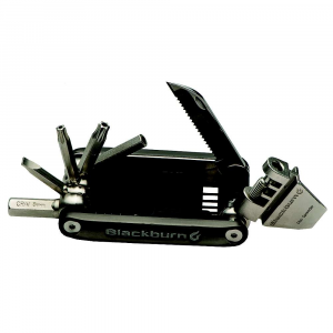 blackburn wayside multi tool- Save 25% Off - Features of the Blackburn Wayside Multi Tool IndiviDual Hex Keys: ?L? bend with ball end to get into funky places: 2, 2.5, 3, 4 & 5mm sizes. Knife Blade: Locking and serrated for your pleasure. Chain Tool: 7?11 speed compatible. Chain Assembly Hook: To assist in chain repair Disc Brake Pad Spreader: Easily resets disc brake pads. 8mm Hex: With hollow core that will accept loose hex keys to provide additional leverage. Torx Keys: Essential for modern bikes: T25, T30 sizes. Spoke Wrenches: Located on the chain tool handle: #0, #1 & #2 sizes. Flat Head Screwdriver.
