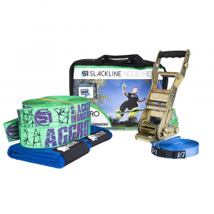slackline industries aggro line slackline kit- Save 25% Off - Features of the Slackline Industries Aggro Line Slackline Kit Two-piece slackline is fully adjustable and easily installed between trees or other sturdy anchor points Improve balance skills, core strength, and coordination while having fun Kit includes slackline, Alpha Ratchet, tree protection and safety backup line The Alpha Ratchet is upgradeable, with an extended handle and slow release (Sold Separately) Custom-designed trampoline-style webbing is made for slacklining and provides extra bounce for dynamic tricks