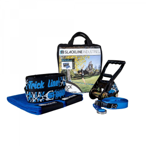 slackline industries trick line slackline kit- Save 25% Off - Features of the Slackline Industries Trick Line Slackline Kit Two-piece slackline is fully adjustable and easily installed between trees or other sturdy anchor points Improve balance skills, core strength, and coordination while having fun Kit includes slackline, ratchet tensioner, tree protection and safety backup line The easy-to-use ratchet comes with 8 feet of webbing and a reinforced loop to firmly anchor and tension the slackline. The handle grip is a soft plastic for comfortable and efficient tensioning and the ratchet release is also rubberized for easy and safe release of the tension on the line Custom-designed trampoline-style webbing is made for slacklining and provides extra bounce for dynamic tricks