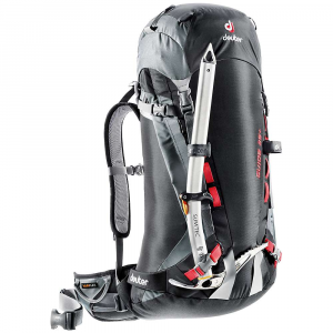 deuter guide 35+ pack- Save 15% Off - Features of the Deuter Guide 35+ Pack Alpine Back Systems Variflex Pivoting Hip Belts Side Access Zipper Wide Ski Slots (130mm) Removable Hip Belt Removable Bivouac Foam Mat and Stays Two Air-channeled Foam Stripes Aluminum X-Frame Modern Ice Tool Attachments Spin-drift Collars Optional Under-lid Rope Strap Hydration Compatible Under-lid Valuables Pocket Hip Belt Gear Loops Optional Stability Waist Strap Height Adjustable Lids SOS Labels Pull Forward Hip Belt Straps