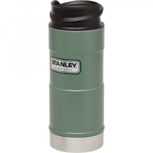stanley classic 12oz one hand vacuum mug- Save 11% Off - Features of the Stanley Classic 12oz One Hand Vacuum Mug Vacuum Insulation body and thermal lid keep drinks hot 4.5 hours, cold 5 hours or iced 20 hours 18/8 stainless steel won't rust; naturally BPA-free Push button lid lets you open, drink, close with one hand Leak proof and fully packable Dishwasher safe, lid disassembles for deep cleaning