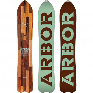 arbor cosa nostra snowboard- Save 14% Off - Features of the Arbor Cosa Nostra SnowBoard Inlaid power ply improves strength and durability Arrowhead tips offer exceptional float; designed specifically for powder Stainless steel tip protector 2x4 14-pack inserts provide a wide stance range, and also allow for critical micro adjustability Reclined parabolic Rocker Highland core Mixed glassing is a triax over biax lay?up that is best for versatility: pow, backcountry, groomers, jumps, and more 360 Rails is a 360?degree, fully wrapped sidewall that eliminates the need for tip fill, while effectively tying the whole SnowBoard together and provides improved Board life and durability Sintered base provides a Higher molecular weight for added durability and speed