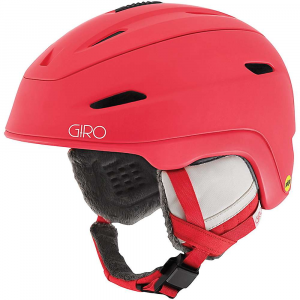 giro women's strata mips snow helmet- Save 20% Off - Features of the Giro Women's Strata MIPS Snow Helmet Durable hard shell ventilated Upper Lightweight in-mold lower and sidewalls Custom women's trim detailing Low-profile design Multi-directional impact protection system POV camera mount included Fidlock magnetic buckle closure Thermostat control adjustable venting Stack ventilation Super cool vents In form 2 Fit system Vertical tuning Compatible with aftermarket Giro audio systems by outdoor Tech Seamless compatibility with all Giro goggles