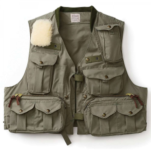 Image of Filson Men's Cover Cloth Fly Fishing Guide Vest