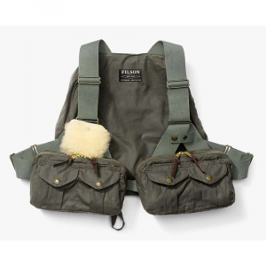 Image of Filson Men's Cover Cloth Foul Weather Fly Fishing Vest