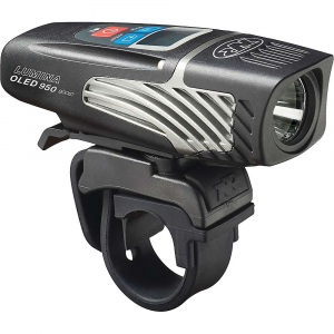 niterider lumina 950 oled boost bike light- Save 27% Off - The NiteRider Lumina 950 OLED Boost Bike Light is a powerful bike headlight for riding into the night. Whether you seek the solace of the evening ride or just can't get off work until late, the CREE; LED is here to light the path ahead. Featuring 9 different modes, 4 of them Are actually for daylight hours, just to keep yourself visible. USB rechargeable and a display on top to tell you how much battery life is left. Features of the NiteRider Lumina 950 OLED Boost Bike Light Unleash maximum LED output with boost mode 5 light levels and 4 daylight flash modes CREE(TM) LED at 6000k Multifunctional OLED screen provides detailed operational information FL1 Standard IP64, water resistant Intellicharge(TM) reduces charge time in half Backlit buttons for easy to use interface in any lighting condition Easy on and off handlebar strap mount with quick release tab Fits standard and Oversize 35mm handlebars Convenient USB rechargeable