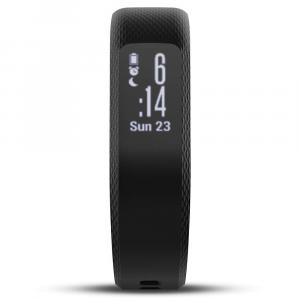 garmin vivosmart 3 hr activity tracker- Save 28% Off - The Garmin vivoSmart 3 HR Activity Tracker is a wristband that'll keep you in touch with your active side. Slim and stylish, the screen automatically disappears to seamlessly blend in with the device when not in use. When you're ready to take a peek at your Fitness stats, it'll be ready to go. From the wrist-based heart rate Technology to steps tracking, VO2 max and strength training, you'll be up to date on your Fitness levels. Safe for use while swimming and showering, so you won't have to slow down for a minute. Garmin vivoSmartA(R) 3 HR Activity Tracker Includes Fitness monitoring tools such as VO2 max, Fitness age and strength training Monitor wellness with all-day stress tracking and the relaxation-based breathing timer 24/7 heart rate monitoring with Elevate(TM) wrist heart rate Technology Tracks steps, floors climbed, calories burned, intensity minutes, sleep and more Water rated to be safe for swimming and showering Battery life lasts up to 5 days Memory of seven timed activities, and history of 14 days of tracked data Daily Smart Features include weather, music controls, and VIRBA(R) remote Smartphone compatibility with iPhoneA(R), Android(TM), and WindowsA(R) Compatible with Garmin Connect(TM) Mobile Find my Phone and Find my Watch Features Heart rate Features include HR zones, HR alerts, HR calories, and HR broadcast (broadcasts HR data over ANT+(TM) to paired devices) Includes vivoSmart 3 Smart activity tracker, charging / data cable, and manuals Activity Tracking Features Step counter Move bar displays on the device after a period of inactivity, and you just need to walk for a couple of minutes to reset it Auto goal learns your activity level and assigns a daily step goal  Sleep monitoring monitors your total sleep and periods of movement or restful sleep  Calories burned Floors climbed Distance traveled Intensity minutes TrueUp(TM) Move IQ(TM) Training, Planning + Analysis Features Activity history on watch Customizable alerts Auto LapA(R) Customizable data pages Fitness Age (in app) V02 max Vibration alerts