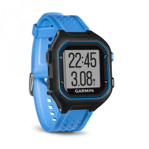 garmin forerunner 25 gps watch- Save 20% Off - The Garmin Forerunner 25 GPS Watch is a wearable training partner that helps you plan and track your Fitness goals. Designed for runners, this device Uses wrist-mounted GPS to measure time, distance and pace. Pair the watch with your Smartphone via Bluetooth to send notifications to your wrist and send your training data to the Garmin Connect; app. The watch also functions as a daily activity monitor that counts your steps, measures calories burned and follows your sleep budget. It?s easy to use right out of the box, and the bold screen is bright and clearly visible around the clock.  Features of the Garmin Forerunner 25 GPS Watch Tracks distance, pace, heart rate and calories Instantly shAre runs and activity tracking progress with friends, family and the world via social media by pairing a compatible device with Garmin Connect Mobile Activity tracking counts steps and calories and reminds you when it?s time to move Up to 8 hours (small) or 10 hours (large) of battery life with GPS on or 8 weeks (small) or 10 weeks (large) in watch/activity tracking mode Save, plan and shAre your activities at Garmin Connect