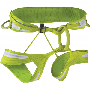 edelrid ace harness- Save 20% Off - Features of the Edelrid Ace Harness 3D-Vent Lite Technology very good Fit and wear comfort via Hdpe (High-Density PolyEthylene) webbing in waist belt and leg loops that spreads load transmission and ensures maximum breathability without adding bulk 15 mm Slide Block buckles on waist belt for secure and comfortable Fit 4 symmetric gear loops, attachment options for ice screw clips, chalk bag attachment loop