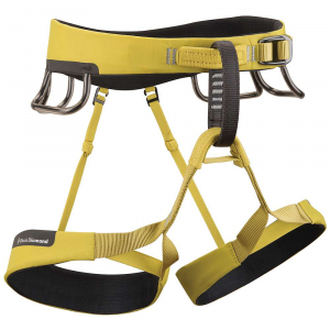 black diamond ozone harness- Save 33% Off - The Black Diamond Ozone Harness is a Climbing harness for sport Climbing on your favorite routes as well as new-found challenges. The Ozone is comprised of Kinetic Core Construction, which even distributes your weight across your waist and legs using thin Vectran fibers. Super fancy Tech-style. The even distribution allows you to sit in the harness more comfortably, and for longer periods of time. The interior of the belt and loops feature 3D mesh, providing a breathable, wicking layer. The exterior Uses an abrasion-resistant shell for taking the rock, your gear, and the trunk of your car on the ride home. The four gear loops Are pressure molded for easy access to quick-draws and additional gear in a flash. Secure the waist belt with the Speed Adjust buckle and make your way to the top. Features of the Black Diamond Ozone Harness Optimized for High-end Performance Premier sport Climbing harness Lightweight, Highly breathable design Kinetic Core Construction