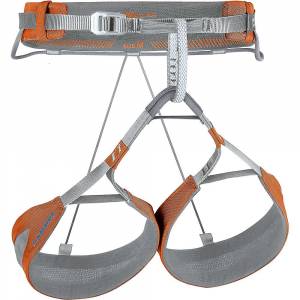 mammut zephir alpine harness- Save 21% Off - Features of the Mammut Zephir Alpine Harness Innovative Split Webbing Technology New aluminum Slide Bloc buckle Stitched daisy chains for indiviDual attachment of ice-screw carabiners 4 Gear loops
