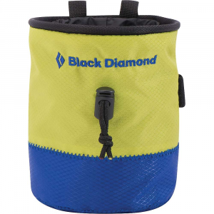 black diamond mojo repo chalk bag- Save 14% Off - Features of the Black Diamond Mojo Repo CHALK Bag Classic cylinder shape with pliable wire rim is made from repurposed materials Fleece-lined interior with cinching cord-lock closure Brush holder Webbing belt with quick-release buckle