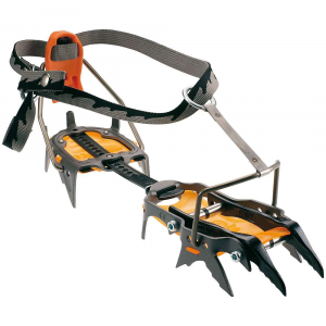 cassin c14 crampon- Save 14% Off - The C14 Crampon by Camp USA. The modular C14 Features six points of adjustment so climbers can customize their crampons for their preferred style of Climbing. The wide spacing of the Dual points promotes stability and helps prevent clogging with ice chunks. The C14 can also be configured as a monopoint (centered or offset). For overhanging mixed Climbing, an optional heel spur (3020) can be attached. The side points Are designed to give the climber secure foot placements on ice, rock, and Snow. Features of the Cassin C14 Crampon Versatile High-Performance crampons for ice and rock Vertical frame forefoot maximizes power and precision Fully adjustable automatic binding Fits most Technical boots Anti-balling plates prevent dangerous Snow build up