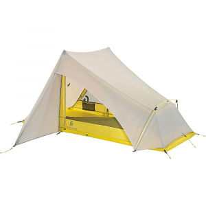 sierra designs flashlight 2 fl tent- Save 25% Off - The Sierra Designs Flashlight 2 FL Tent is a backpacking tent for minimalist hikers. The non free-standing structure includes three poles for pitching, but gives the hiker the ability to ditch the two vertical poles and pitch with trekking poles to drop weight. Pitch in the rain without fear of getting the insides soaked thanks to the Hybrid double/single wall, which also increases breathability throughout. Enter and exit via the two large doors and a large 8 inch awning shields you from any potential rain drips. The two side gear closets do more than protect your gear, they ensure the doorways Are clear, Are accessible from the inside and outside, and you don't even have to shAre space with your tent-partner. Features of the Sierra Designs Flashlight 2 FL Tent Feather light Design IndiviDual doors for each occupant Defined footprint with only 6 stake outs Large drop doors 8in. Awning coverage Hybrid double/single wall Trekking pole compatible Gear closet