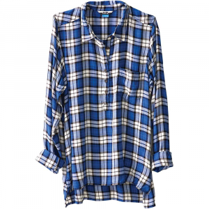 kavu women's easton shirt- Save 30% Off - Features of the Kavu Women's Easton Shirt Oversized 1 Long sleeve half placket button up shirt Stand collar One chest pocket Side slits Straight hem