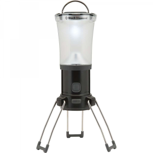 black diamond apollo lantern- Save 21% Off - The Black Diamond Apollo Lantern is a collapsible lantern for car camping and base camp. When the sun goes down, you'll often need a bit of light to close out the night merrily, whether you're cooking up a late dinner, strumming guitar, or just prepping your day pack for tomorrows adventure that leaves at dawn. The 200 lumens of power is produced by a QuadPower LED inside a frosted globe, emitting light in a 15m diameter. Set it at the center of the picnic table among the s'mores fixings, so you know just where to grab chocolate bar or graham cracker before roasting your marshmallow over the fire. Hang it from the top of your family tent with the double hook hang loop and every one can snuggle into their bags, play a game of cards or read before getting some shut eye. When the week or two of camping is over, collapse, fold up the legs and tuck it into a bag for the drive home. Features of the Black Diamond Apollo Lantern QuadPower LED with 200 lumens (max setting) is enclosed in a frosted globe to provide bright, ambient light Dual reflector system captures and maximizes light output Power meter displays charge status or battery level for rechargeable NRG battery kit or 4 AA batteries Unique dimming function provides adjustable brightness Distinctive, fold-down legs increase lantern's height and maximize light dispersion Collapsible, double-hook hang loop
