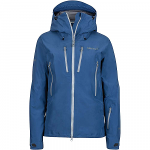 marmot women's alpinist jacket- Save 25% Off - Features of the Marmot Women's Alpinist Jacket Gore-Tex pro fabric - new generation 100% seam taped Helmet compatible Gale-force hood with laminated wire brim Erg hood adjustment system Pitzips with water-resistant zippers Pack pockets with water-resistant zippers Napoleon chest pockets with water-resistant zips Zip-off powder skirt Interior mesh storage pocket Interior zippered pocket DriClime lined chin guard Elastic drawcord hem Angel-wing movement