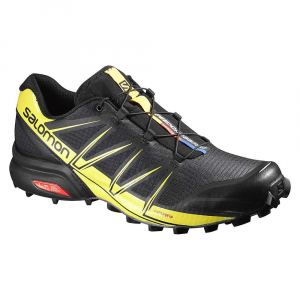 salomon men's speedcross pro shoe- Save 19% Off - Features of the Salomon Men's Speedcross Pro Shoe Upper: Anti-debris mesh, Water resistant textile, Mud guard, Friction free lace eyelet SensiFit, Quicklace, Mid feather construction, Lace pocket, EndoFit, Tongue cover Outsole: Mud and Snow non-marking contagrip Midsole: Lightweight muscle, Injected EVA