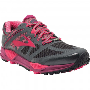 brooks women's cascadia 11 gtx trail running shoe- Save 19% Off - Features of Brooks Women's Cascadia 11 GTX Trail Running Shoe Gore-tex Upper offers waterproof, breathable coverage Biomogo DNA Midsole cushioning provides adaptive cushioning Four-point pivot posts create a stabilizing suspension system Full-length segmented crash pad accommodates any foot landing and delivers smooth transitions Ballistic rock shield protects against potential surface hazards Rugged Outsole provides great traction on wet surfaces and tricky terrain