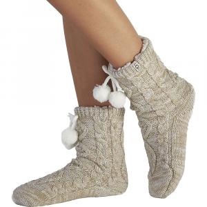Image of Ugg Women's Pom Pom Fleece Lined Crew Sock